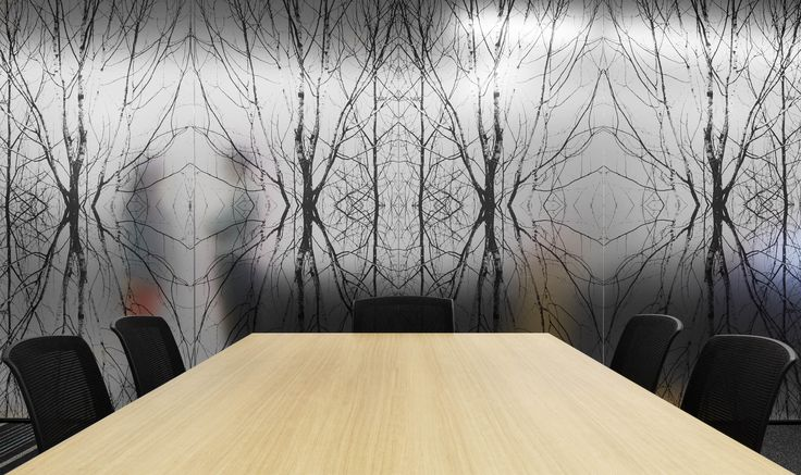 M2 Telecommunications - Decals through for privacy in Meeting rooms. By STUDIOMINT Melbourne Australia