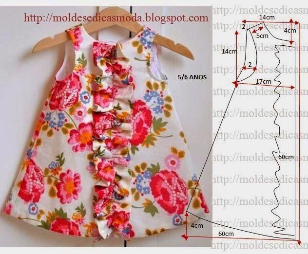 Кройка и шитье. Как научиться кроить и шить.: Выкройки детских платьев