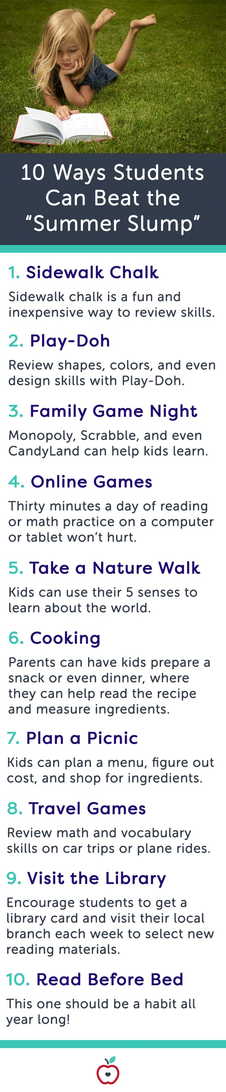 """10 Ways to Beat the """"Summer Slump"""" 