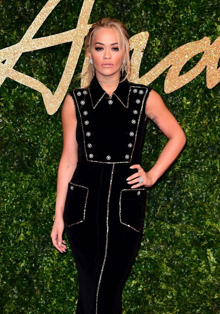 Rita Ora arrives at 2015 British Fashion Awards