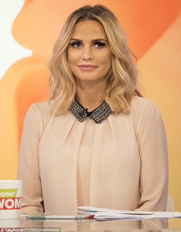 Teasing the change: Last week, Katie appeared on Loose Women with her shorter tresses...
