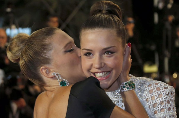 Adele Exarchopoulos and Lea Seydoux