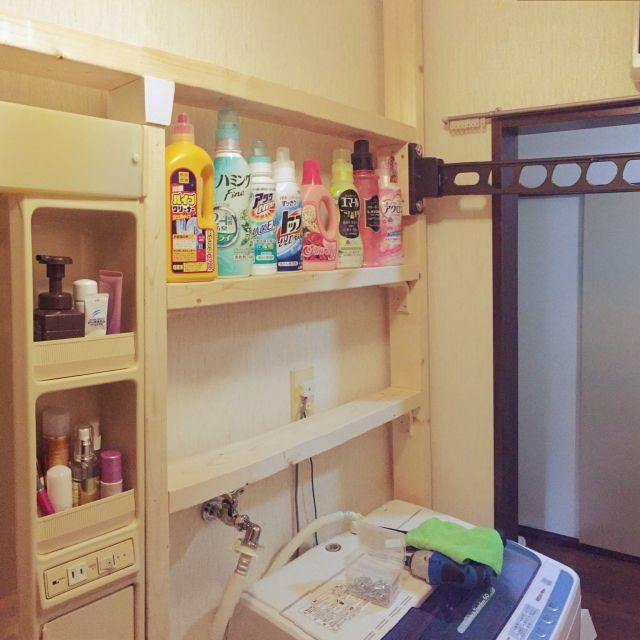ハンドメイド/ディアウォール/ナチュラル/DIY/バス/トイレのインテリア実例 - 2015-09-14 22:55:39 | RoomClip(ルームクリップ)
