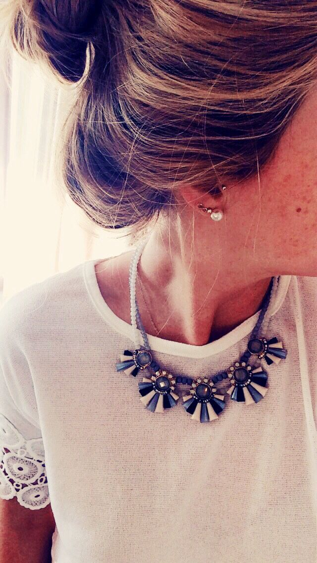 mollyrosekane: Spring time looks I really love the detail on the shirt sleeve and I like the necklace, too.