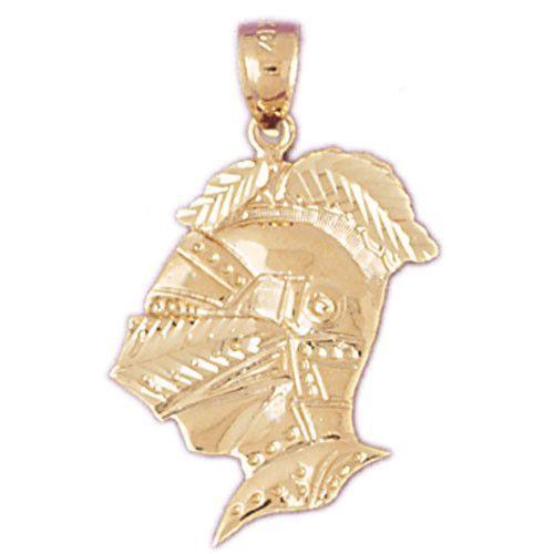 14K GOLD CHARM - ROMAN SOLDIER HELMET #4817
