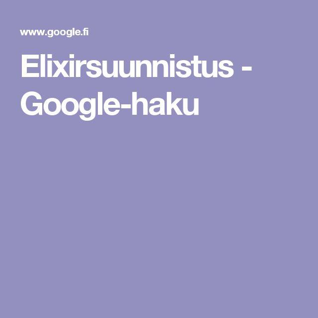 Elixirsuunnistus - Google-haku
