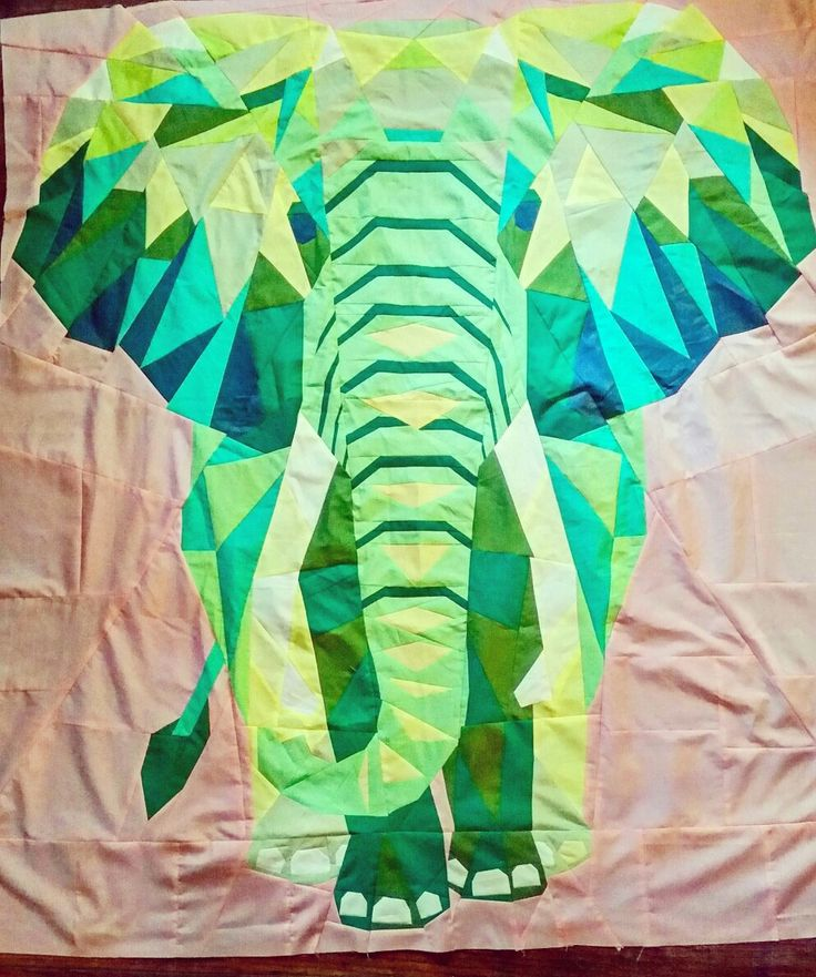 My version of violet crafts elephant abstraction quilt.
