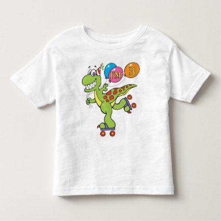 3rd Birthday Dinosaur Toddler T-shirt - tap to personalize and get yours