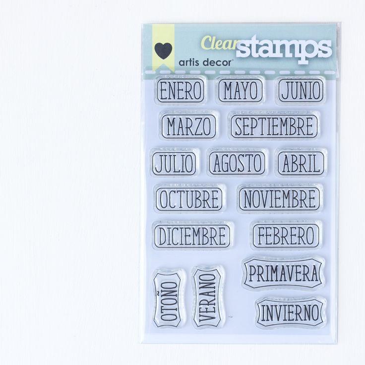 """Image of Sellos acrílicos """"Meses y estaciones"""""""