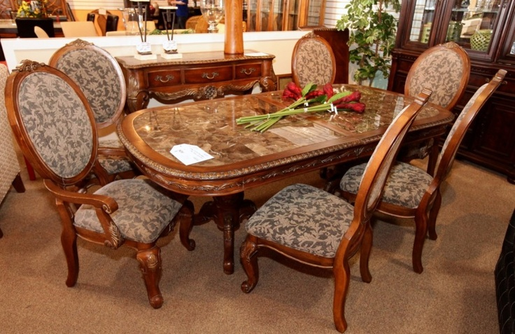 Kathy Ireland Dark Wood Dining Table W 6 Chairs  Colleen's Fascinating Dining Room Furniture Ireland Design Inspiration