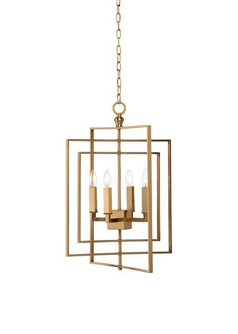 Cube Gold Chandelier, Small from Chelsea House (68745)