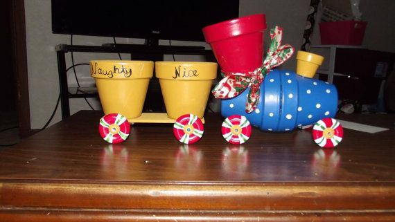 Flower pot train by PotPeople on Etsy, $30.00