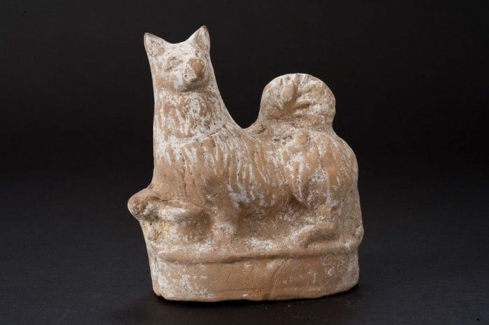 Terracotta Dog Rattle | Johns Hopkins Archaeological Museum, 4th- to 1st-century B.C.E., Greek