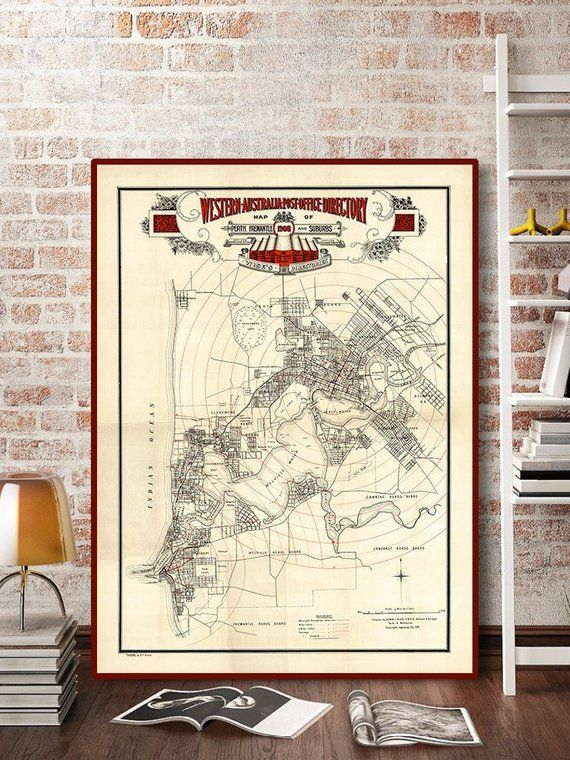Map Of Australia Showing Perth.Old Perth Map Print 1939 Map Of Perth Australia Perth Poster