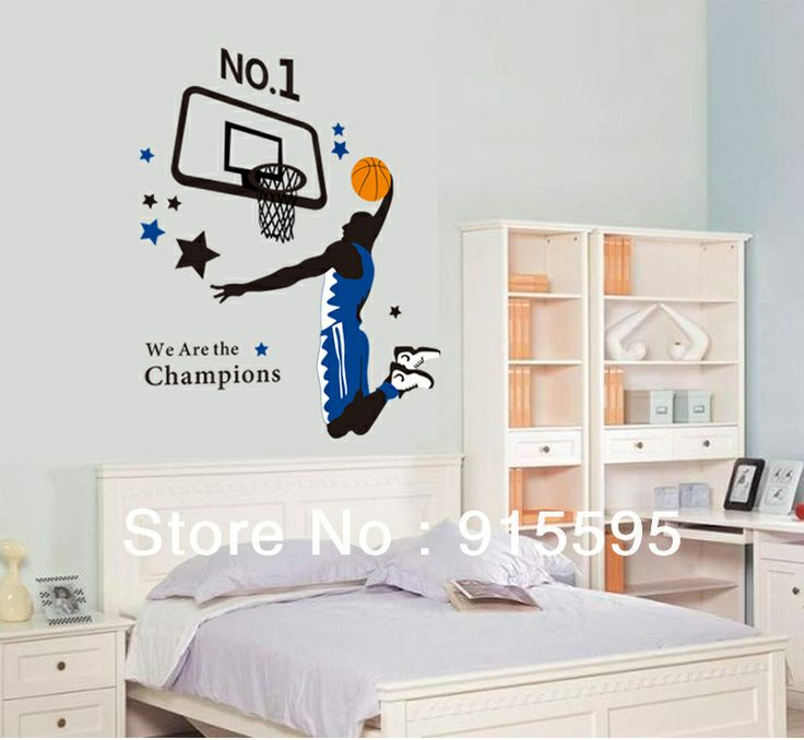 Awesome Homefind X Powerful Slam Dunk Wall Stickers Kids Room Vinyl Wall Art Decals  Mural Removable Boys Room Wall Stickers Art Decor (Slam Dunk)