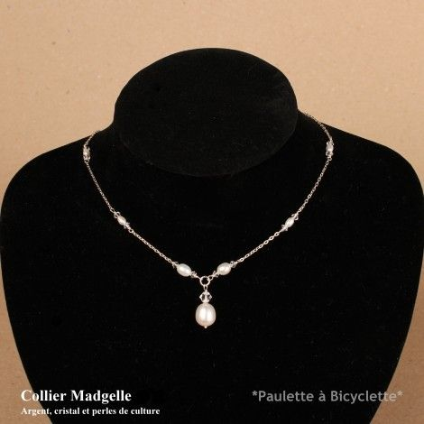 Collier en perles de culture et cristal MADGELLE