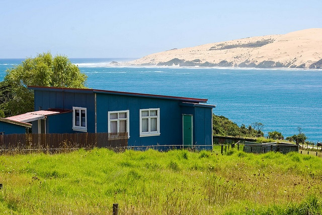Love this classic Kiwi Bach - rough, remote with a stunning wild view