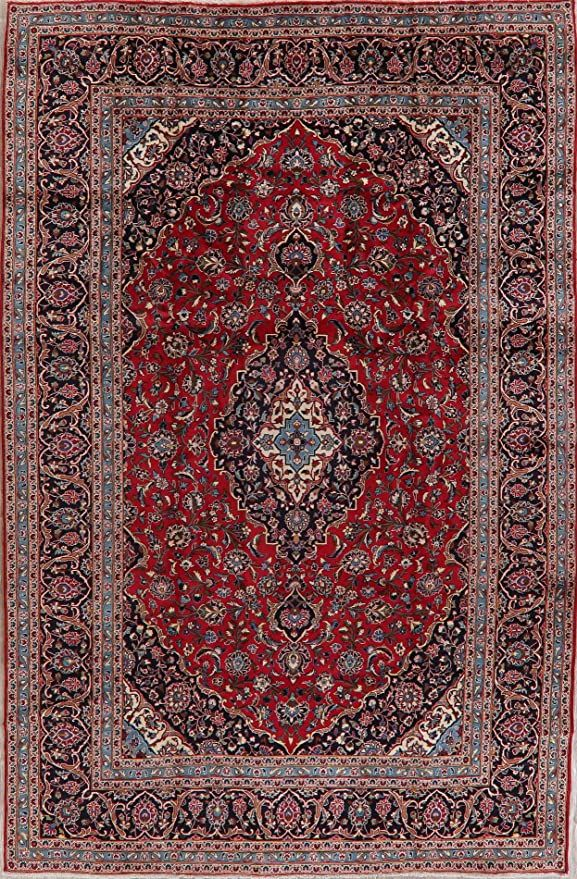 Floral Kashan Persian Traditional Area Rug 8x12 Red Wool Hand Knotted Oriental Carpet For Living Room In 2020 Traditional Area Rugs Living Room Carpet Oriental Carpets