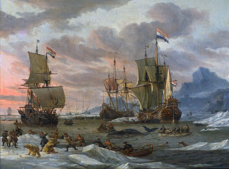 "Abraham Storck ""Dutch Whalers Off a Rocky Coast"""