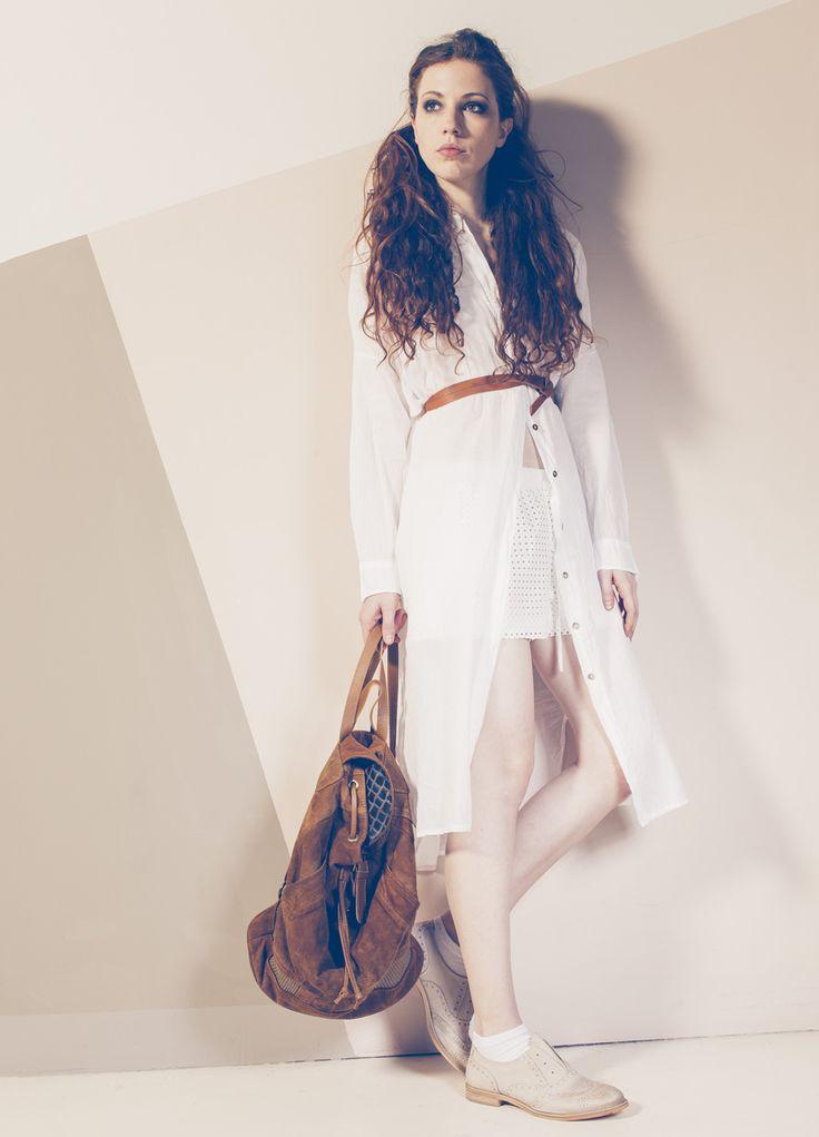 Produzione e vendita pronto moda donna  collezione spring e summer 2016.  #anycase #abito #safari #white