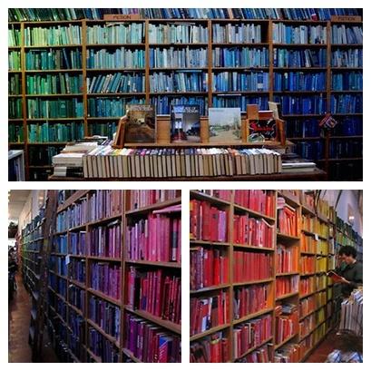 books, color-sorted