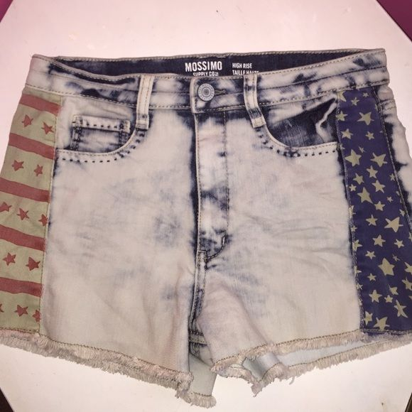 High waisted American shorts High waisted, lightly worn, light denim Mossimo Supply Co Shorts Jean Shorts