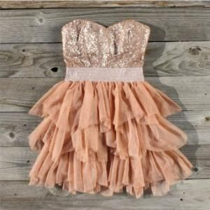 Ruffles & Rust Party Dress, Sweet Women\'s Country Clothing