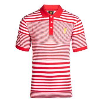LFC Mens Red Echo Stripe Polo Shirt