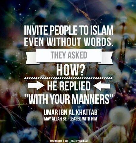 Manners - Umar ibn Al-Khattab