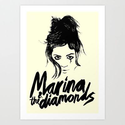MARINA AND THE DIAMONDS Art Print by priscilawho - $15.60