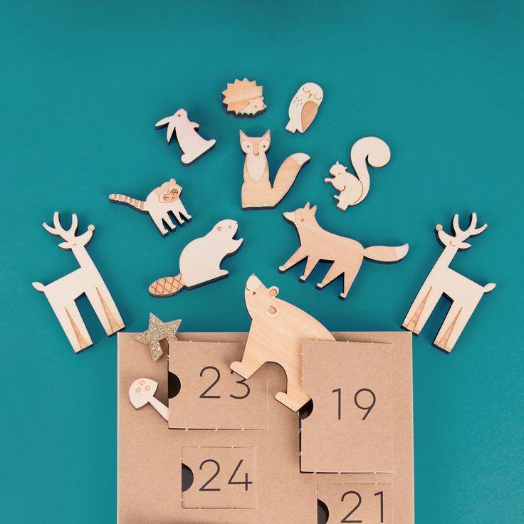 Les animaux de la forêt se sont tous réunis dans un calendrier de l'avent, pour notre plus grand plaisir !