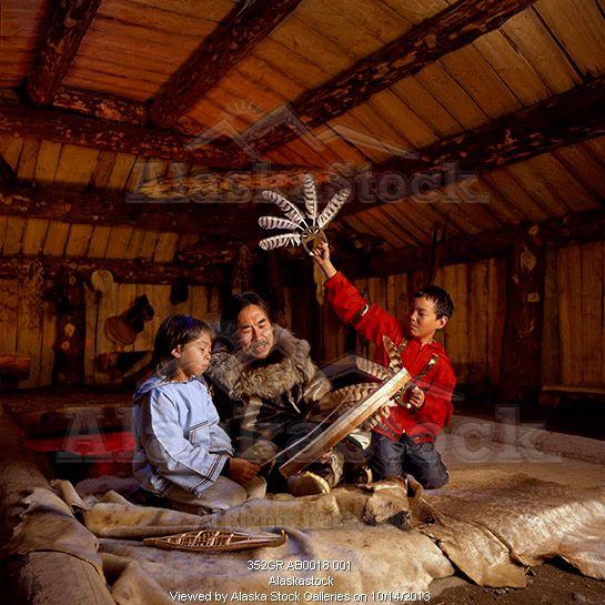 Photo of Yupik Artist Teaches Dances to Children @ Mens ...