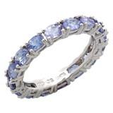 Eva LaRue Sterling Silver Tanzanite Ring
