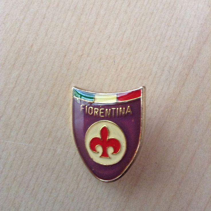 spilla FIORENTINA tricolore Firenze calcio football spilletta old pin