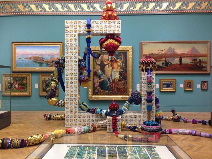 Joana Vasconcelos' Cottonopolis arrives in our historic galleries. Portuguese tiles meet Pillington tiles! At MAG