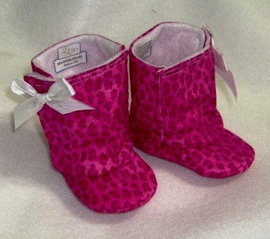 Baby Girl Boots, Hot Pink Leopard Print. $20.00, via Etsy.