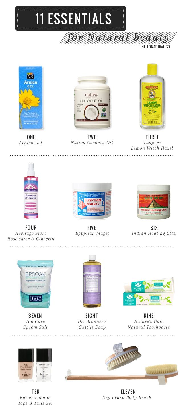 11 Natural Beauty Essentials                                                                                                                                                     More