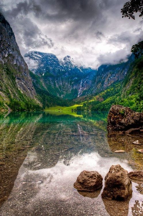 Königssee, Bavaria, Germany photo via leandro _____________________________________ The water looks so clear, this is beautiful.
