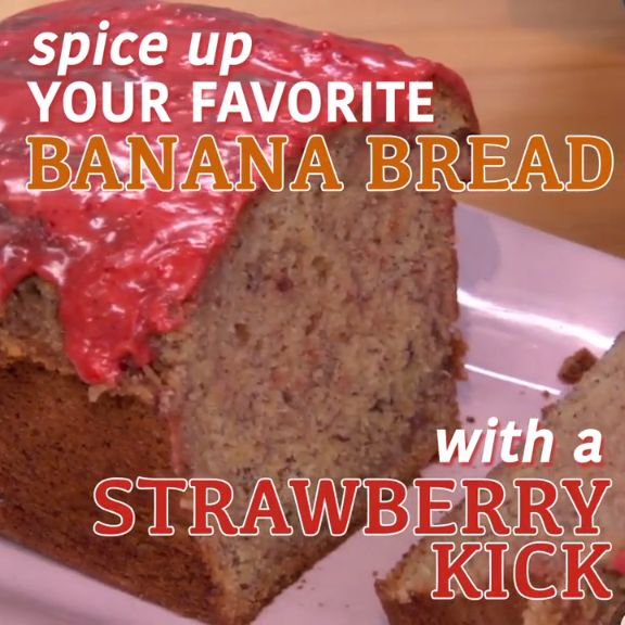 Add some extra pizzazz to your banana bread recipe and throw in fresh strawberries. Try The Kitchen's Strawberry Banana Bread recipe ASAP!