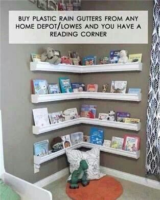 Cool reading corner for nursery