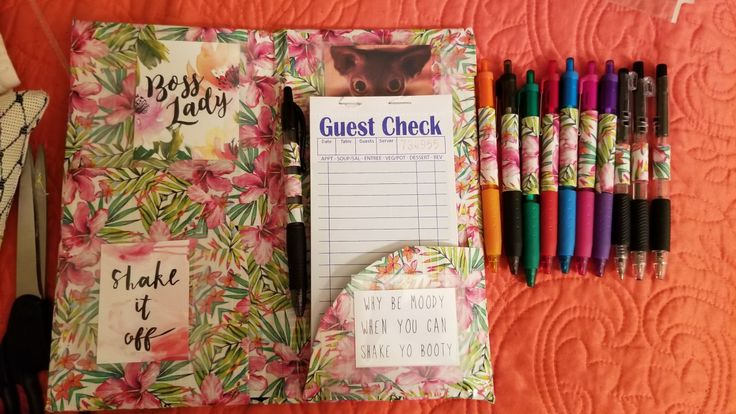 Server book DIY with duck tape!