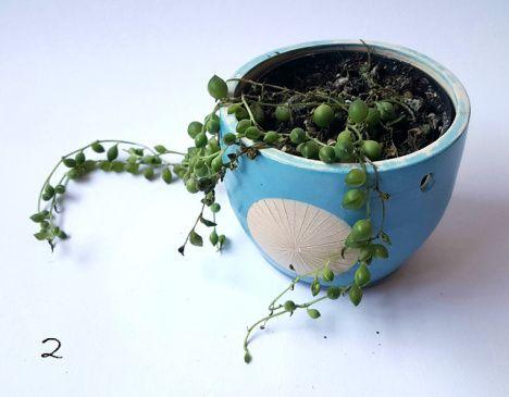 Het is tegenwoordig weer helemaal in om je plantjes op te hangen. Dat kan in een normaalplantenpotje met een gemacrameed netje eromheen. Ik ben echter een pottenbakker en geen macrameeër. Daarom h…