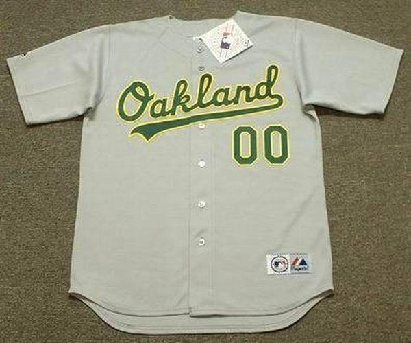 """OAKLAND ATHLETICS 1990's Majestic Throwback Away """"Customized"""" Baseball Jersey  #Athletics #OaklandAthletics"""