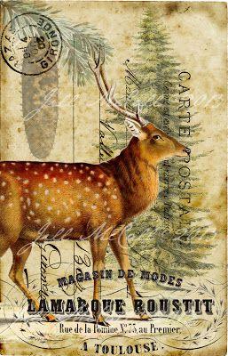 ~Winter Red Deer ~ Original Art by Jill McCall©2013