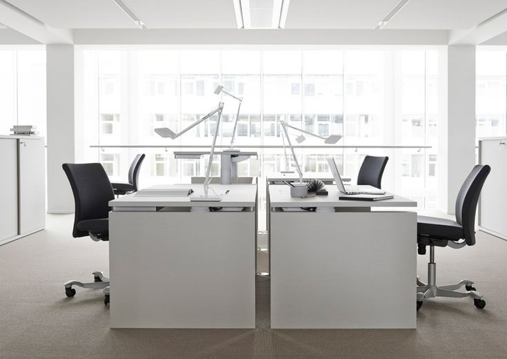 RH DESIGN RH ERGONOMIC DESK - RH ARKITEKTER / RH DESIGN's ergonomic desk is designed for the modern office, where the accent is on good ergonomic design built into a simple, restrained cubic shape.