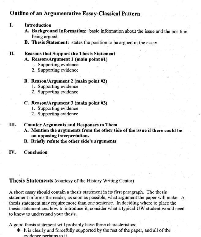 Argumentative Essay Example Outline Rhetorical Analysi Persuasive Interpretation