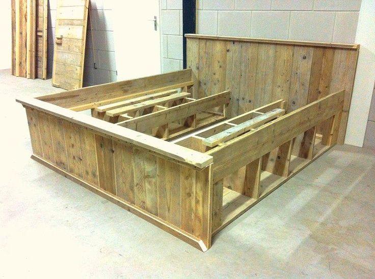 Vaak Bouwtekening Steigerhout Bed 2 Persoons #LZ49 @GU29