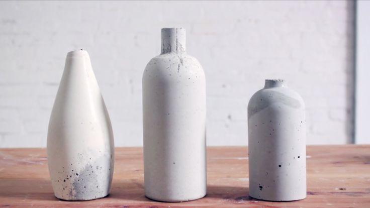DIY Concrete Bud Vases | Video Tutorial