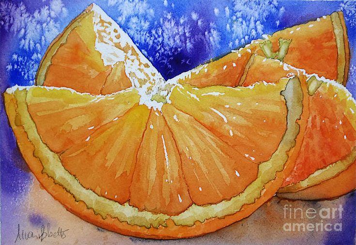 Oranges 'n' Blues Painting by Marisa Gabetta - Oranges 'n' Blues ...