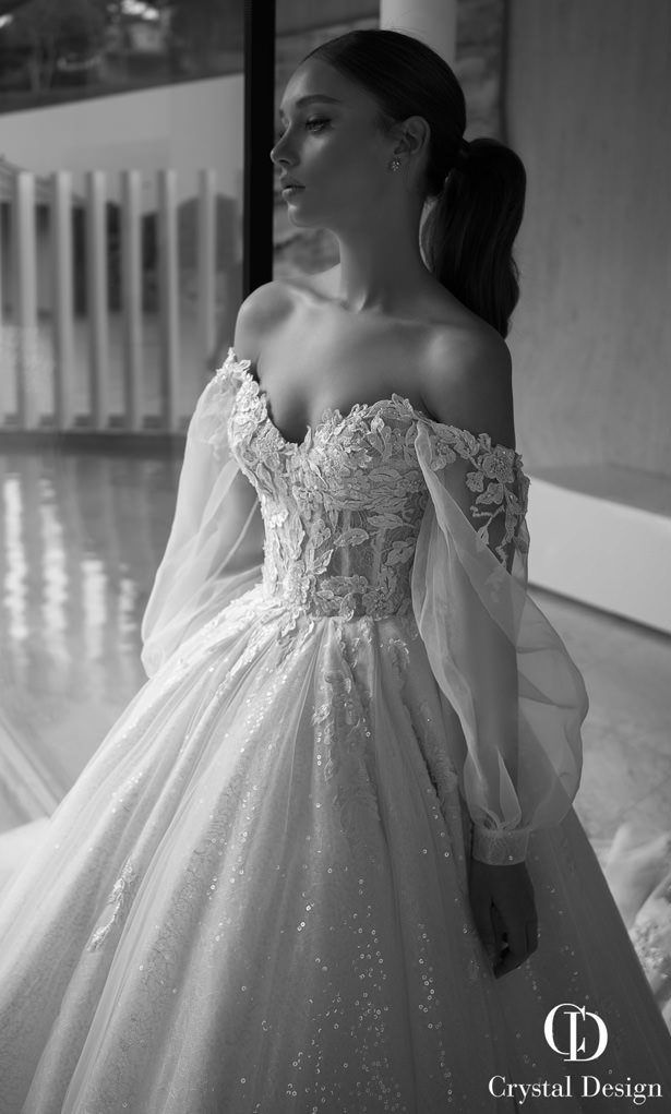 28 Elegante schulterfreie Brautkleider - #springwedding